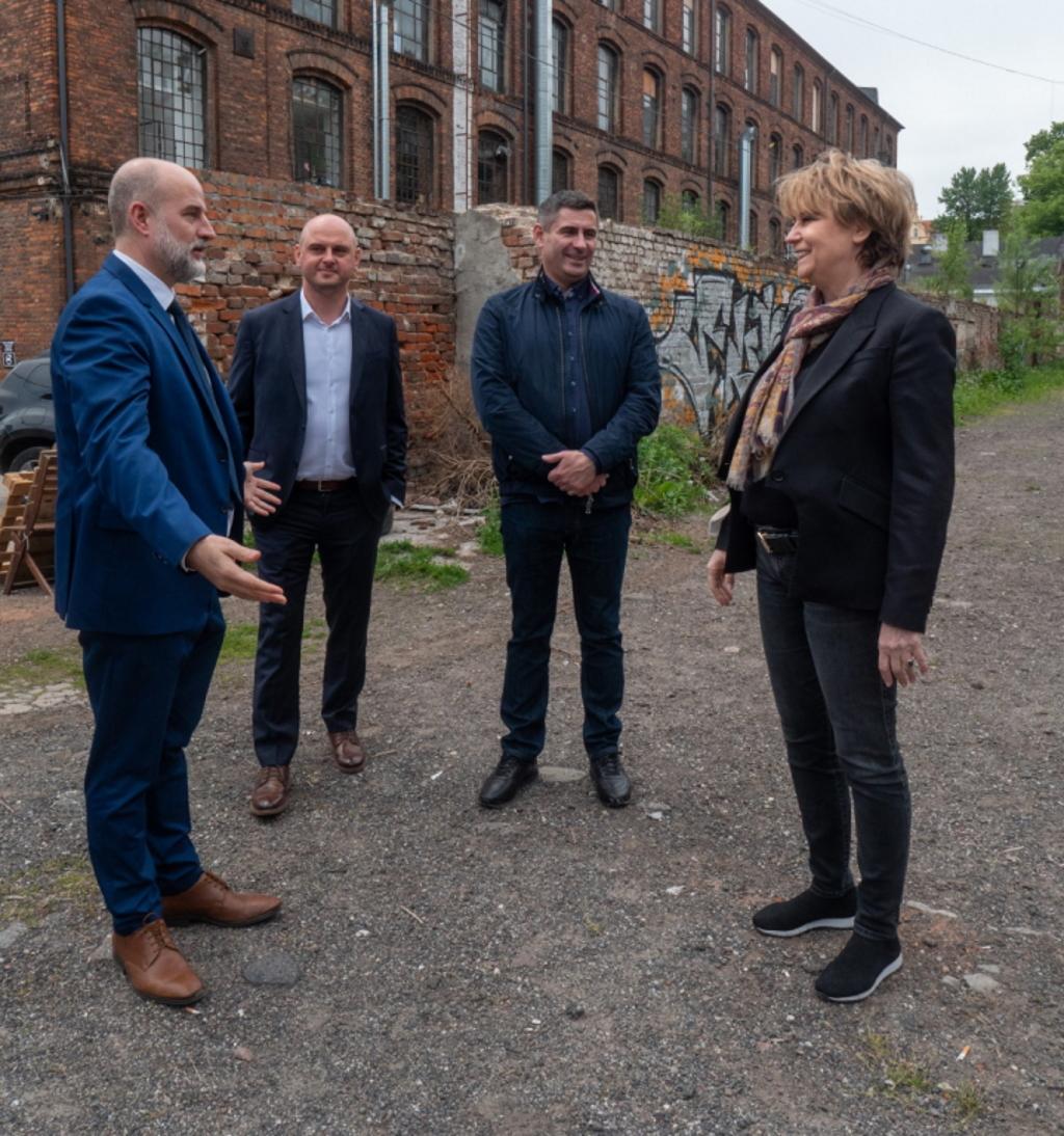 Wizyta prezydent Łodzi zprzedstawicielami Mostostalu Warszawa